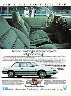 1982 Chevrolet Cavalier CL (Canadian ad)