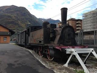 Dead loco at Tirano