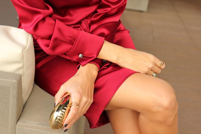 escarda red dress coohuco 2