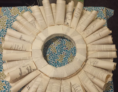 Book page wreath, week3