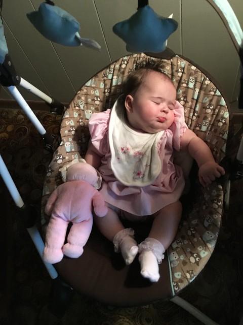 Thanksgiving nap at Great-Grandma's house
