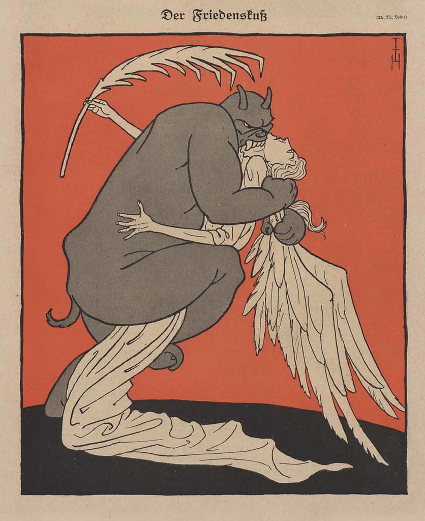 Thomas Theodor Heine - The Kiss Of Peace , 1919