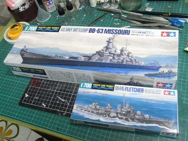 【玩具人詹波投稿】1/700美國BB-63密蘇里號戰艦 SEP 2,1945 Tokyo bay