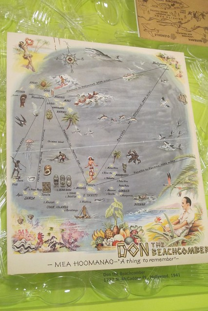 Don the Beachcomber 1941 menu