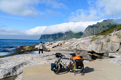 Cycling on Senja, Norway