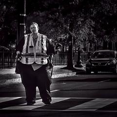 School Crossing Guard Safeguarding Children Walking From School,