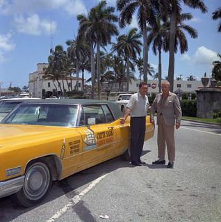 Carr Hatch & John Devaney with Cutty Sark 1968 Cadillac - Palm Beach