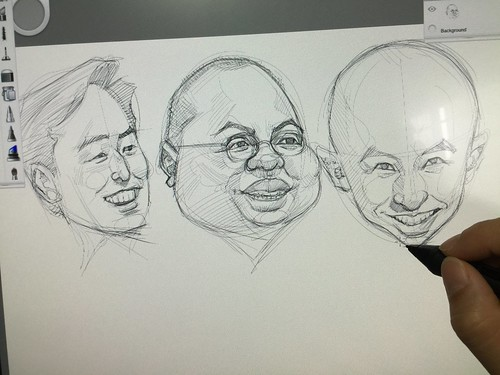 Digital caricatures for Mediacorp