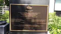 Plaque on Pushkin Statue on George Washington University Campus