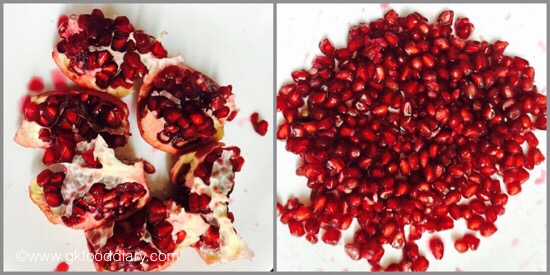 how to make pomegranate juice for babies