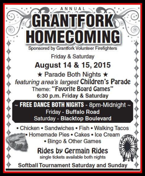 Grantfork Homecoming 8-14, 8-15-15