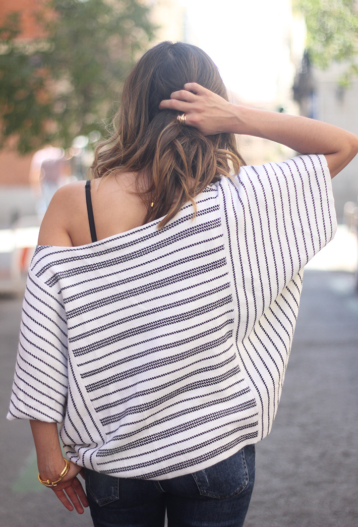 Casual Friday Jeans stripes top summer outfit18