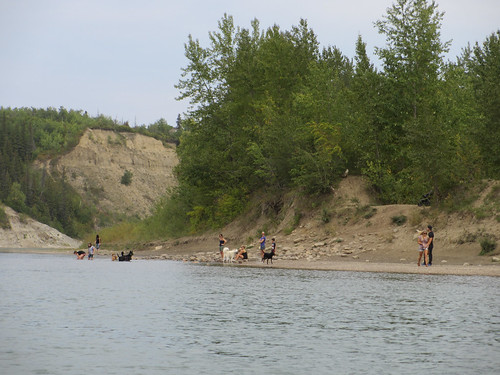 Canoeing down the North Saskatchewan River