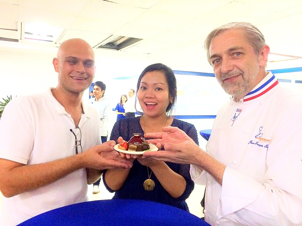 Goof posing with multi-awarded pastry chefs