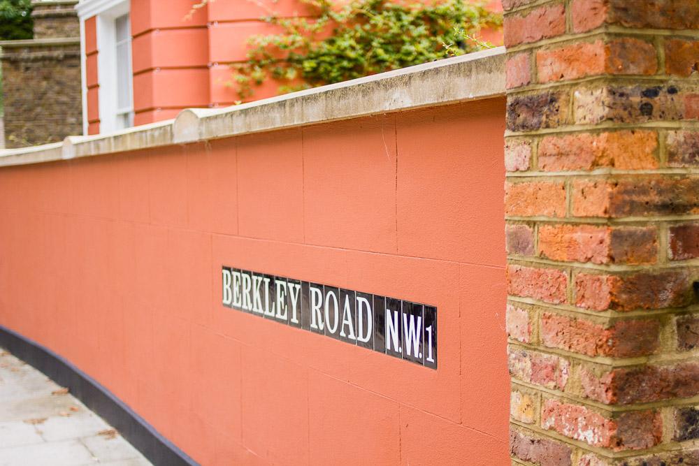 Berkley road orange wall north london