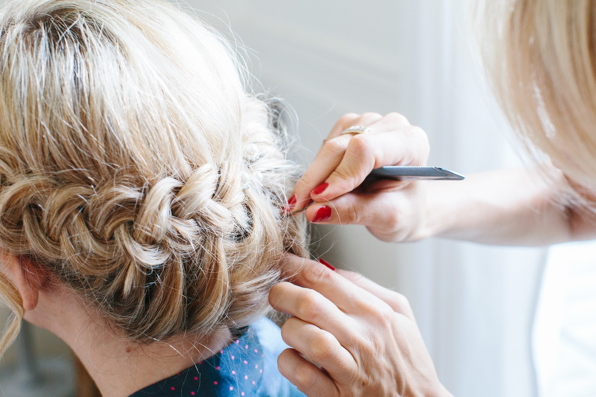 Getting ready before the Civil Wedding captured by Carin Olsson