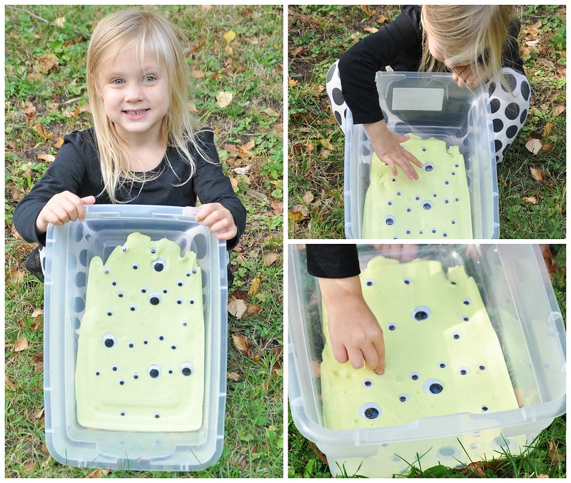 Googly Eye Monster Slime Sensory Play