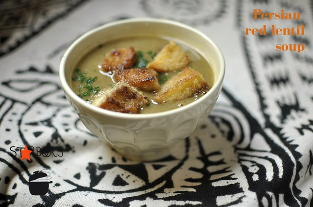 Persian red lentil soup