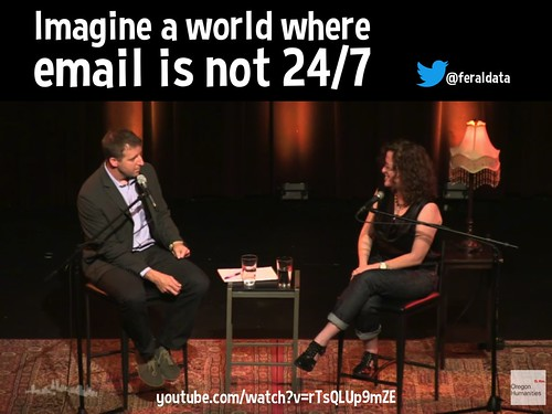 Imagine a world where email is not 24/7 @feraldata @orhumanities