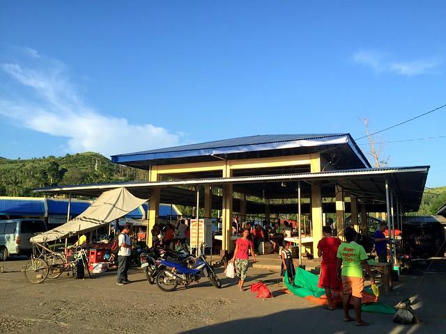 Vendors gather at the newly-rehabilitated Leyte Public Market