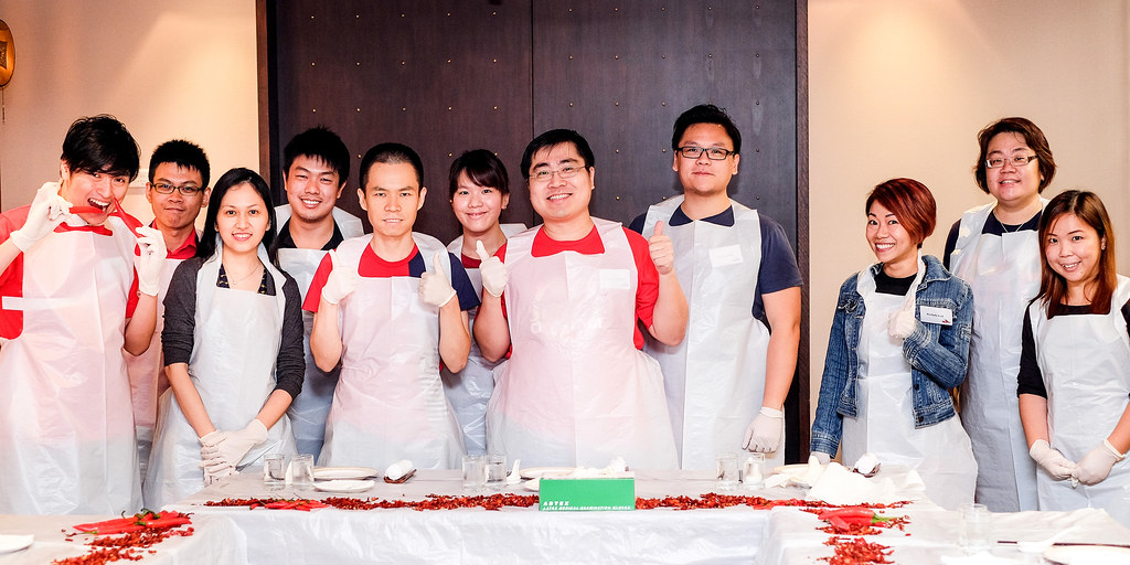 Parcipants of Si Chuan Dou Hua Restaurant Spicy Warrior Challenge 吃辣比赛