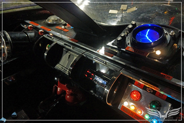 The Establishing Shot: CHARACTER CARS 1966 BATMOBILE (COCKPIT INTERIOR) AT THE ROGUES GALLERY - CREATION OF A SUPER-VILLAIN BOOK LAUNCH @ THE CRYPT GALLERY, LONDON - OCT 2015