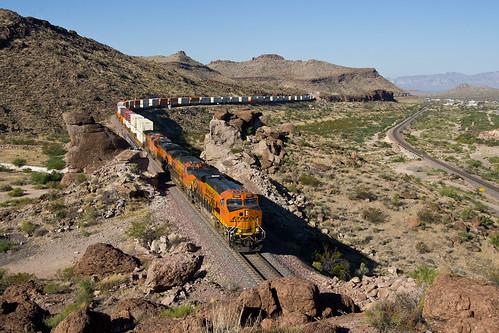 arizona train railway bnsf kingman vlak železnice