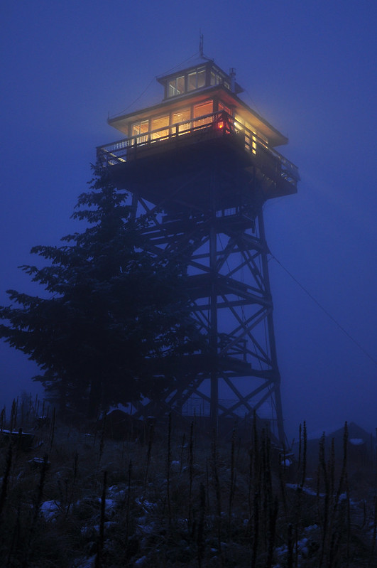 Lookout at night