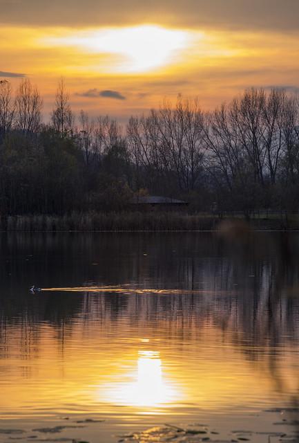 Sunset in Revine Lago
