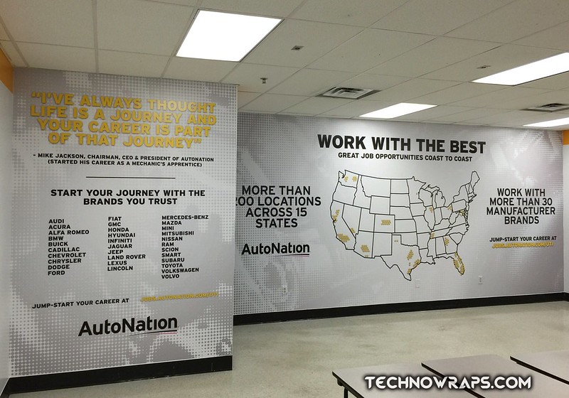 Wrapped walls in Orlando by TechnoSigns
