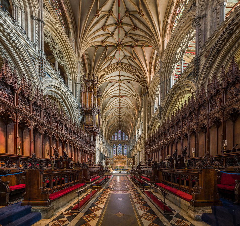 The choir of Ely Cathedral, Cambridgeshire. Credit: David Iliff
