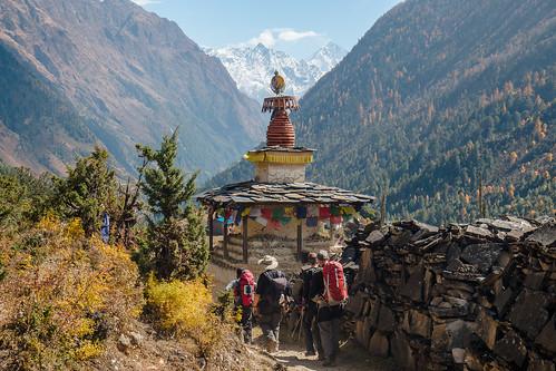 nepal stupa buddhism ganesh himalaya lho westernregion manaslucircuit mountainkingdoms
