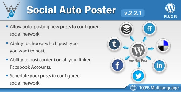 Social Auto Poster v2.2.8 - WordPress Plugin