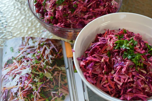 Coleslaw with chervil dressing