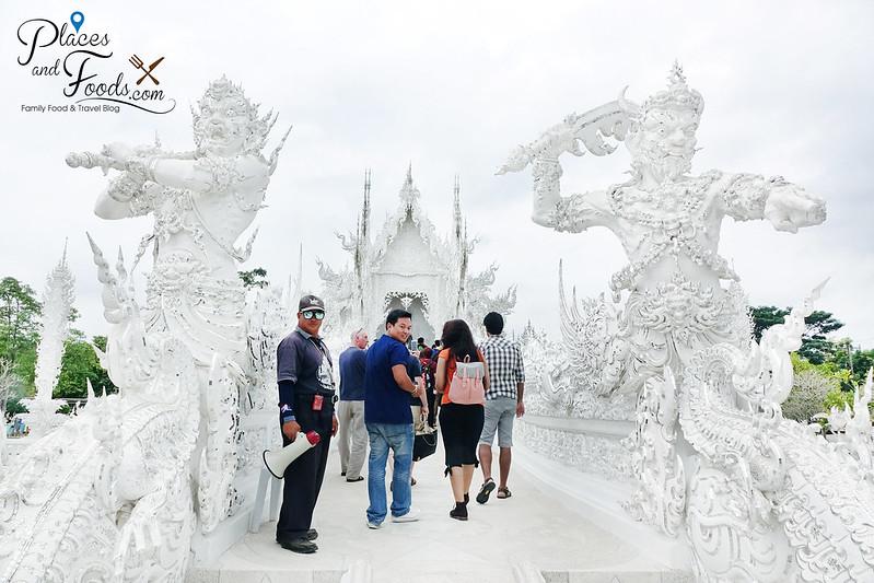 chiang rai white temple warriors arch