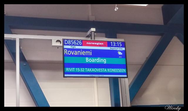 Laponia viaje Helsinki Rovaniemi - Embarcando vuelo a Rovaniemi