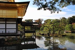 Image of Kinkaku-ji (Golden Pavilion Temple) near Kamigyō-ku. japan kyoto goldenpavilionkyoto