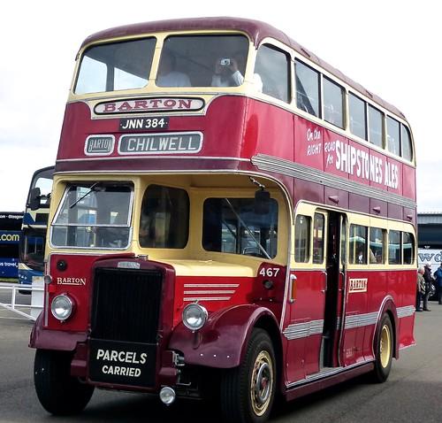 JNN 384 'Barton Transport' No. 467 Leyland PD1 / Duple on 'Dennis Basford's railsroadsrunways.blogsot.co.uk'