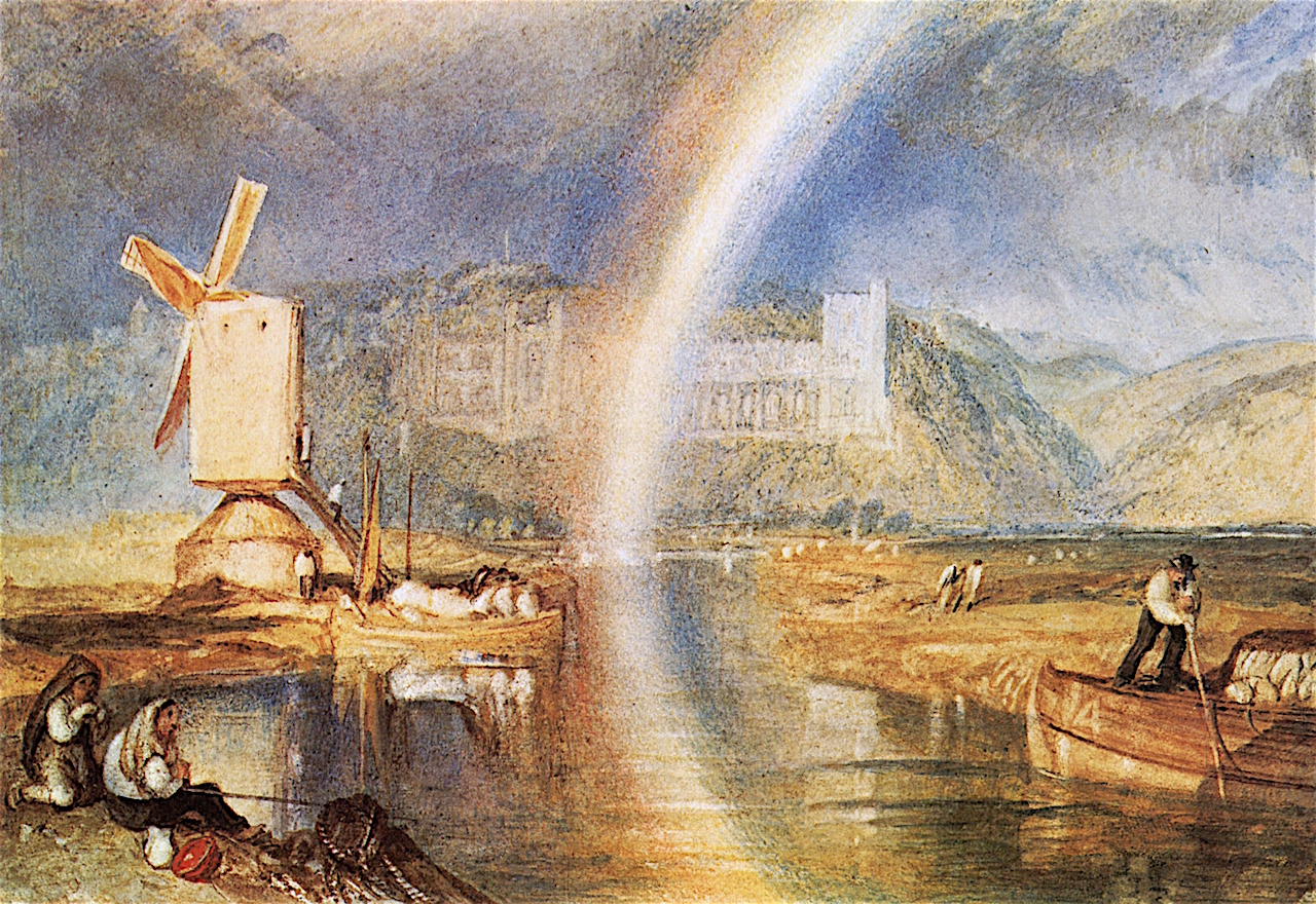 Arundel Castle, with Rainbow by Joseph Mallord William Turner - 1824