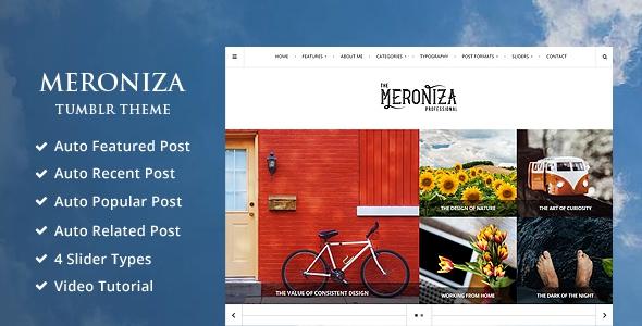 Meroniza - A Responsive Elegant Tumblr Theme