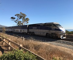 #amtrak #train coming through #carpinteria along the #bluffs.