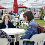 Chilling in Charlotte Square Gardens | Enjoying sunshine in the Book Festival gardens © Helen Jones