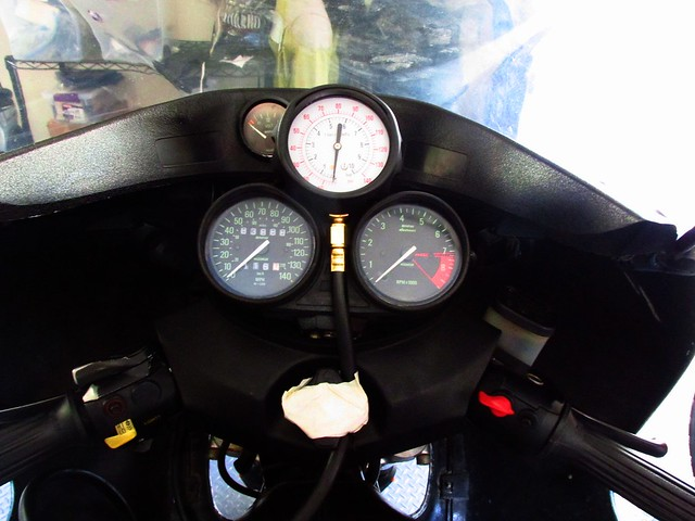 Attaching Oil Test Gauge to Instrument Cluster