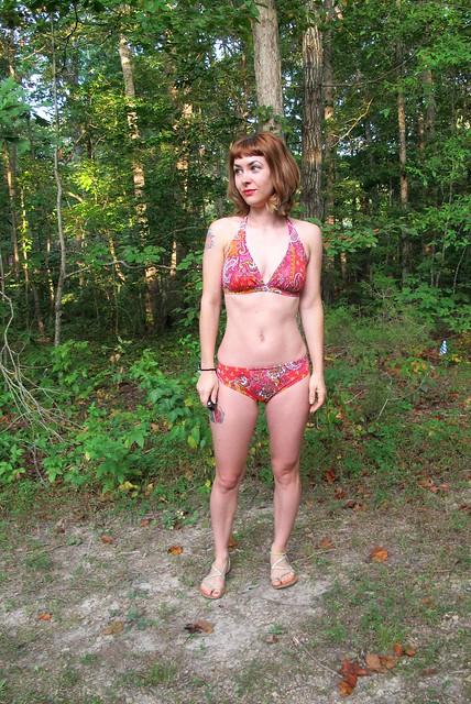 Paisley print Stretch & Sew Bikini - front