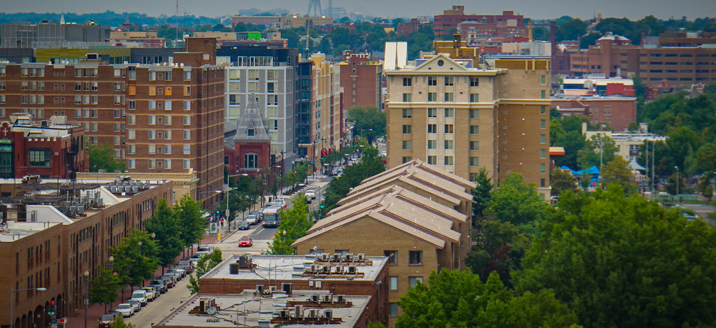 View from AAMC Headquarters, of the Shaw Neighborhood, Washington, DC USA