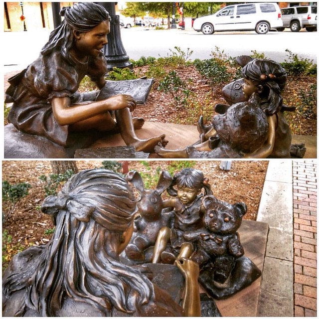 #Sculpture #Art #PublicArt #EdmondOklahoma right by a customer's office in downtown Edmond #MyOklahoma