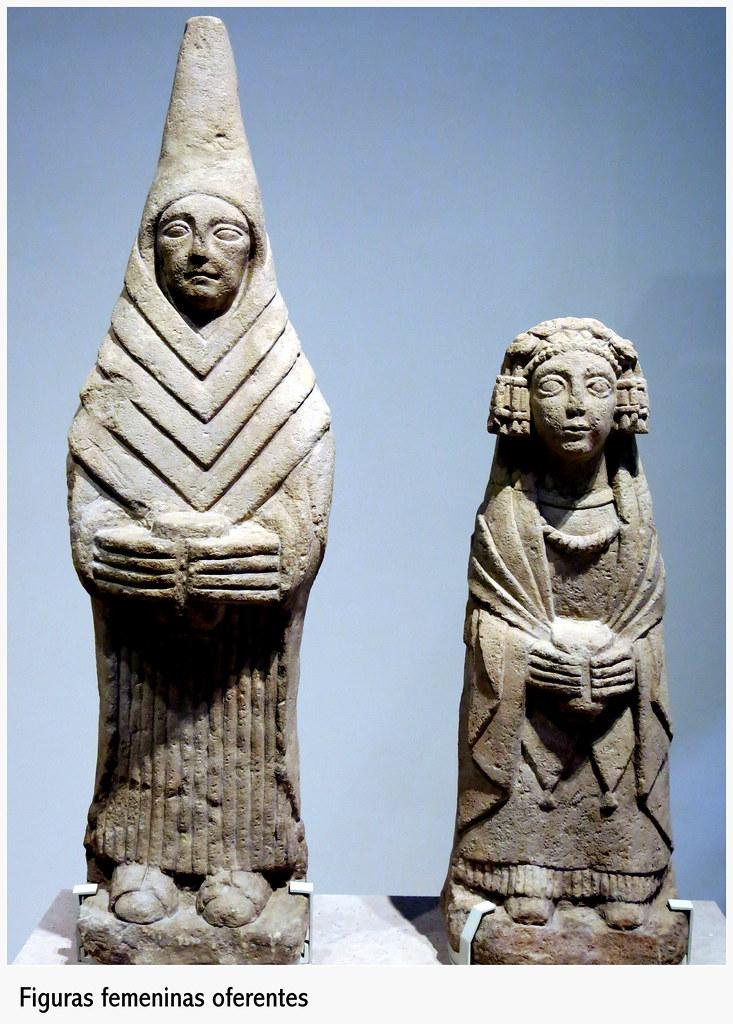 Figuras femeninas oferentes. C. Ibérica. Siglos III-II a.C. Santuario del Cerro de los Santos (MAN)