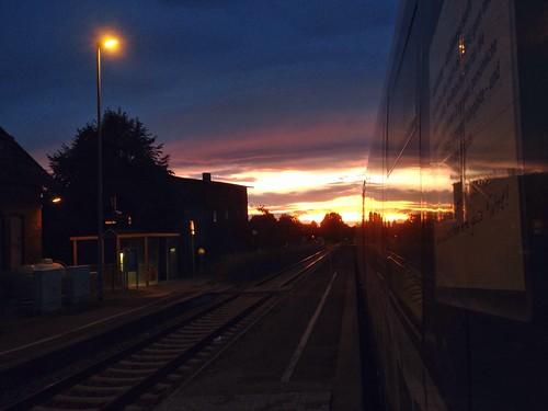 Blick zurück Odeg at Bahnhof Schleife