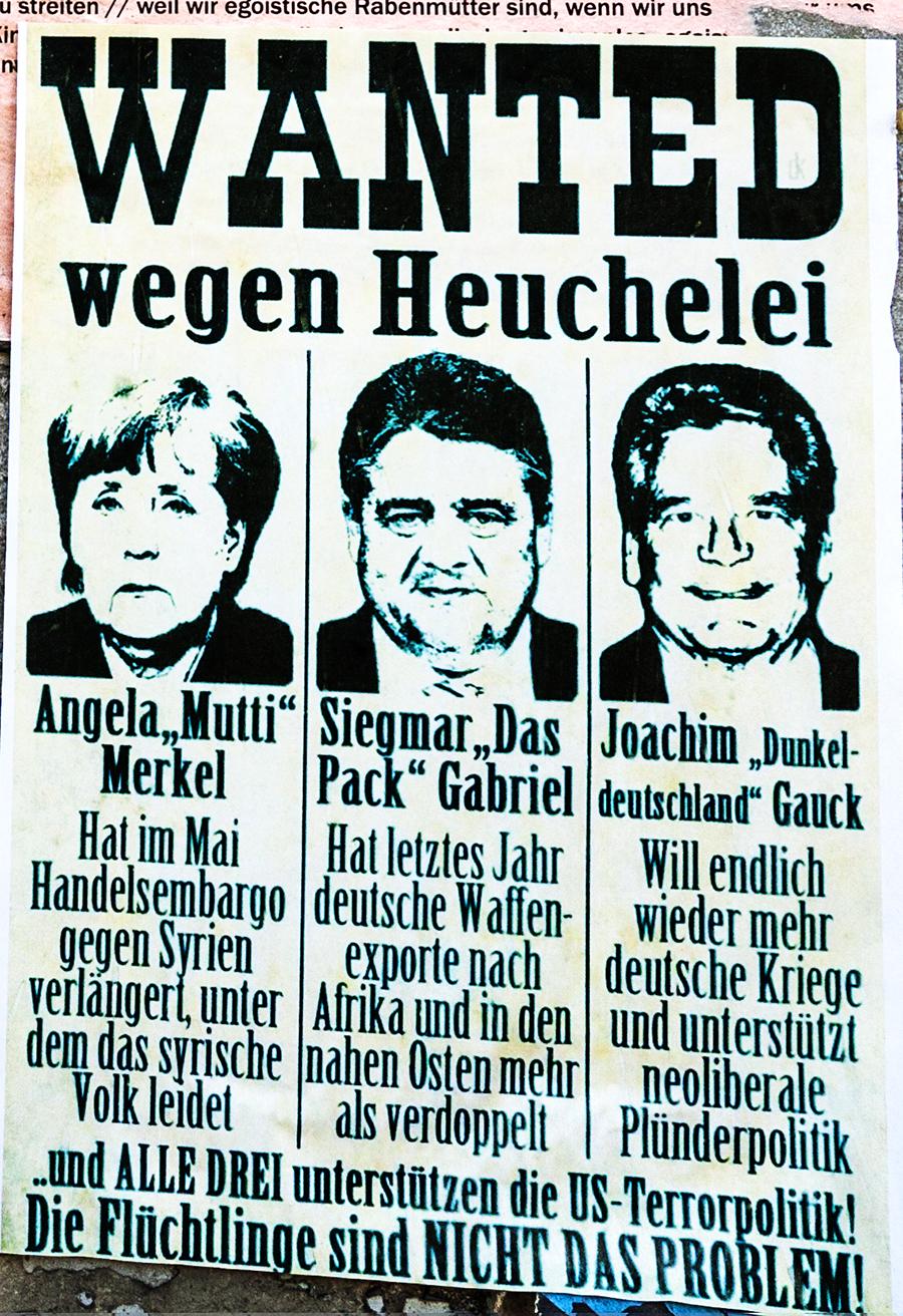 WANTED wegen Heuchelei--Leipzig (detail)