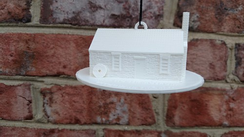 3D Printing - Occoquan's Mill House Museum - Test Print in White - It Balances